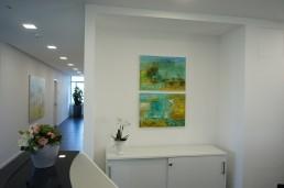 gemietete Gemälde in Arztpraxis