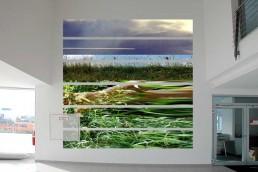 großes quadratisches Natur Foto in Eingangshalle