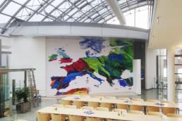 Landkarte von Europa in Kantine