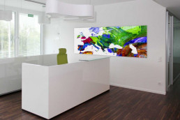 Fotokunst Landkarte in modernem Büro